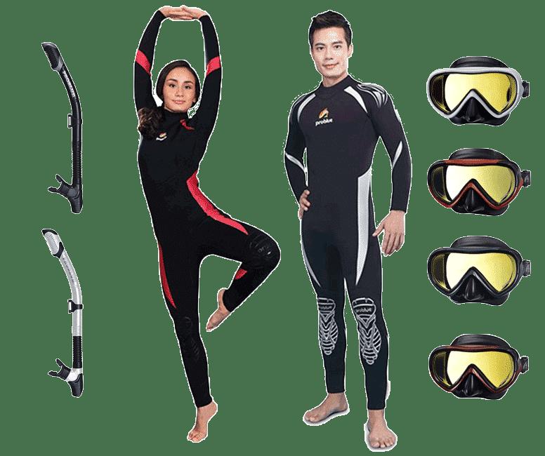 學潛水送防寒衣面鏡呼吸管